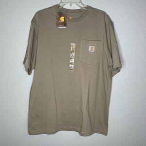 Carhartt Tan Brown Pocket T-Shirt Size Medium New